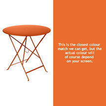 Bistro 77cm Round Table - Carrot