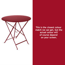 Bistro 77cm Round Table - Chilli