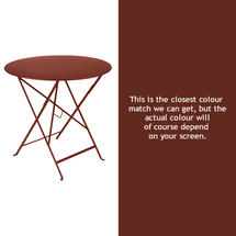 Bistro 77cm Round Table - Red Ochre