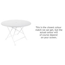 Bistro 117cm Round Table - Cotton White