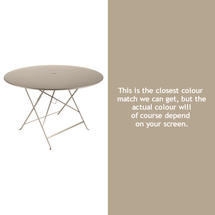 Bistro 117cm Round Table - Nutmeg