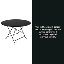 Bistro 117cm Round Table - Liquorice