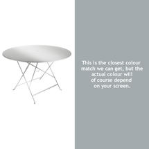 Bistro 117cm Round Table - Steel Grey