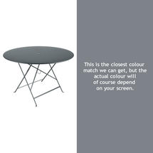Bistro 117cm Round Table - Storm Grey
