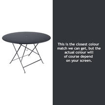 Bistro 117cm Round Table - Anthracite