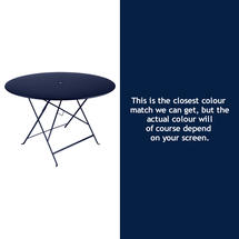 Bistro 117cm Round Table - Deep Blue