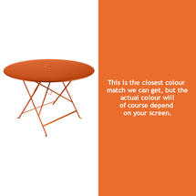 Bistro 117cm Round Table - Carrot