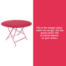 Bistro 117cm Round Table - Pink Praline