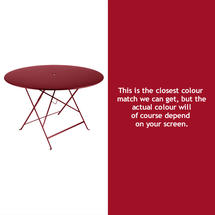 Bistro 117cm Round Table - Chilli