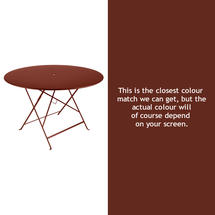 Bistro 117cm Round Table - Red Ochre