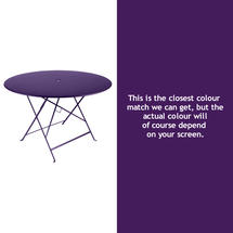 Bistro 117cm Round Table - Aubergine