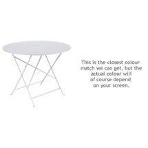 Bistro 96cm Round Table - Cotton White