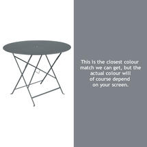 Bistro 96cm Round Table - Storm Grey