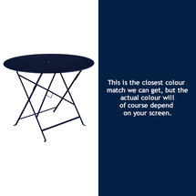 Bistro 96cm Round Table - Deep Blue