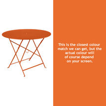 Bistro 96cm Round Table - Carrot