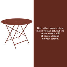 Bistro 96cm Round Table - Red Ochre
