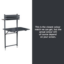 Bistro Balcony Table - Anthracite