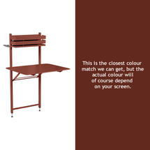 Bistro Balcony Table - Red Ochre