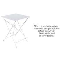 Bistro 57cm Square Table - Cotton White