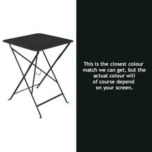 Bistro 57cm Square Table - Liquorice