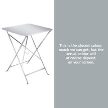 Bistro 57cm Square Table - Steel Grey