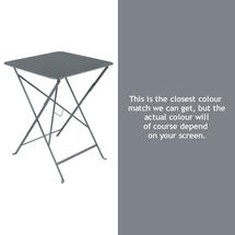 Bistro 57cm Square Table - Storm Grey