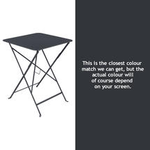 Bistro 57cm Square Table - Anthracite