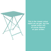 Bistro 57cm Square Table - Lagoon Blue