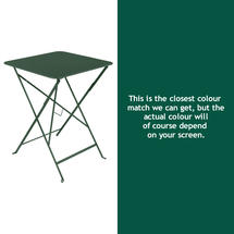 Bistro 57cm Square Table - Cedar Green