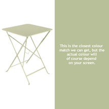 Bistro 57cm Square Table - Willow Green