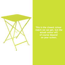Bistro 57cm Square Table - Verbena Green