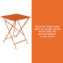 Bistro 57cm Square Table - Carrot