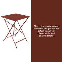 Bistro 57cm Square Table - Red Ochre