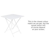 Bistro 71cm Square Table - Cotton White