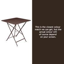Bistro 71cm Square Table - Russet