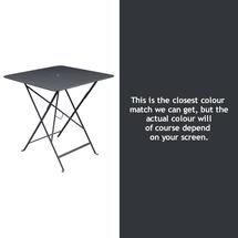 Bistro 71cm Square Table - Anthracite