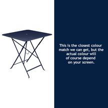 Bistro 71cm Square Table - Deep Blue