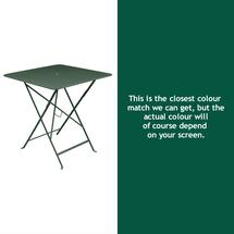 Bistro 71cm Square Table - Cedar Green