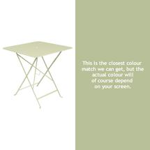 Bistro 71cm Square Table - Willow Green