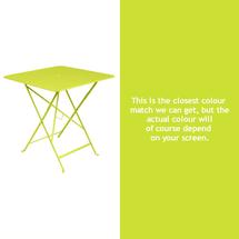 Bistro 71cm Square Table - Verbena Green