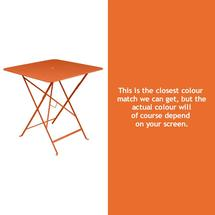 Bistro 71cm Square Table - Carrot