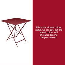 Bistro 71cm Square Table - Chilli