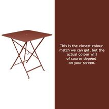 Bistro 71cm Square Table - Red Ochre