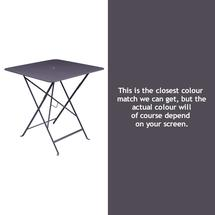Bistro 71cm Square Table - Plum