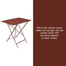 Bistro 77x57 Table - Red Ochre