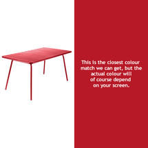 Luxembourg 143 x 80 Table - Poppy