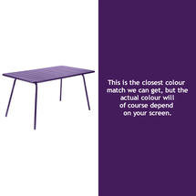 Luxembourg 143 x 80 Table - Aubergine