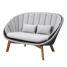 Peacock Lounge Sofa - Grey / Light Grey