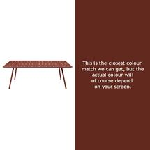 Luxembourg 207 x 100 Table - Red Ochre