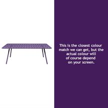 Luxembourg 207 x 100 Table - Aubergine